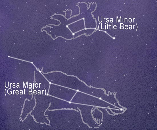 Image result for little bear constellation